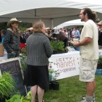 Haliburton's Farmer Derek with City Harvest