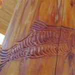 En'Owkin Centre - Salmon pillar