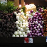 Calgary Farmers Market Beets & Onions